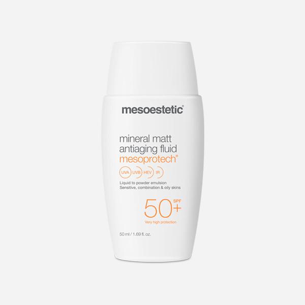 Mesoestetic- Protector solar mineral matt antiaging fluid